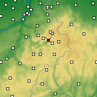 Nearby Forecast Locations - Malmedy - Carte