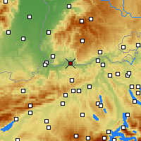 Nearby Forecast Locations - Möhlin - Carte