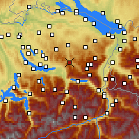 Nearby Forecast Locations - Ebnat-Kappel - Carte
