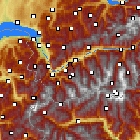 Nearby Forecast Locations - Fey - Carte