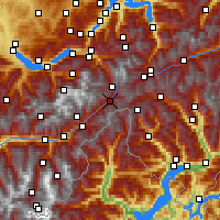 Nearby Forecast Locations - Ulrichen - Carte