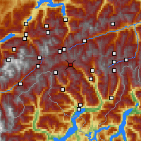 Nearby Forecast Locations - Airolo - Carte