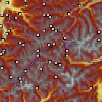 Nearby Forecast Locations - Scuol - Carte