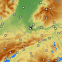 Nearby Forecast Locations - Bâle - Carte