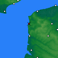 Nearby Forecast Locations - Boulogne-sur-Mer - Carte