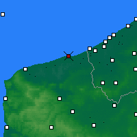 Nearby Forecast Locations - Dunkerque - Carte