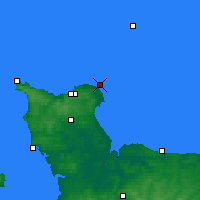 Nearby Forecast Locations - Barfleur - Carte