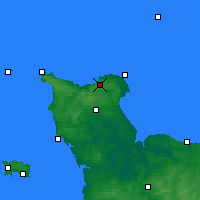 Nearby Forecast Locations - Cherbourg-en-Cotentin - Carte