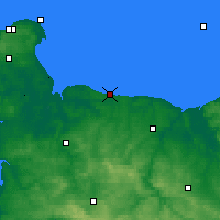 Nearby Forecast Locations - Port-en-Bessin-Huppain - Carte