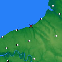 Nearby Forecast Locations - Dieppe - Carte