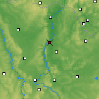 Nearby Forecast Locations - Metz - Carte