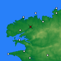 Nearby Forecast Locations - Landivisiau - Carte