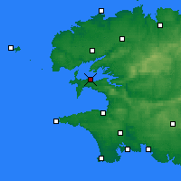 Nearby Forecast Locations - Lanvéoc - Carte