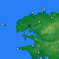Nearby Forecast Locations - Brest - Carte