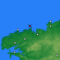 Nearby Forecast Locations - Île de Batz - Carte