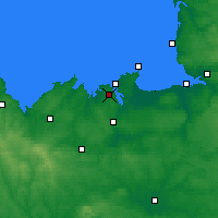 Nearby Forecast Locations - Dinard - Carte