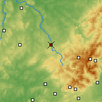 Nearby Forecast Locations - Épinal - Carte