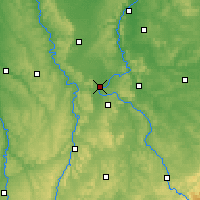 Nearby Forecast Locations - Toul - Carte