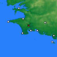 Nearby Forecast Locations - Quimper - Carte