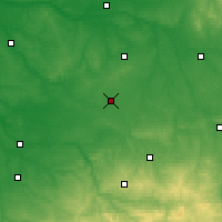 Nearby Forecast Locations - Châteauroux - Carte