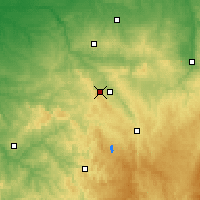 Nearby Forecast Locations - Guéret - Carte