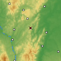 Nearby Forecast Locations - Mont-Saint-Vincent - Carte