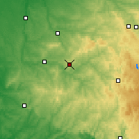 Nearby Forecast Locations - Limoges - Carte