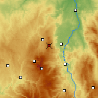 Nearby Forecast Locations - Puy de Dôme - Carte