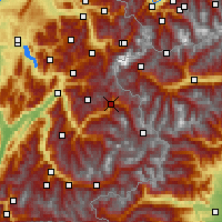 Nearby Forecast Locations - Bourg-Saint-Maurice - Carte