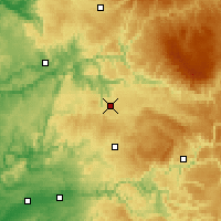 Nearby Forecast Locations - Rodez - Carte