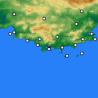 Nearby Forecast Locations - Toulon - Carte