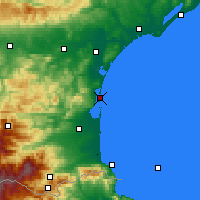 Nearby Forecast Locations - Leucate - Carte