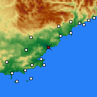 Nearby Forecast Locations - Fréjus - Carte