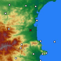Nearby Forecast Locations - Perpignan - Carte
