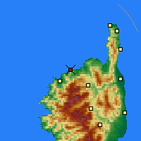 Nearby Forecast Locations - L'Île-Rousse - Carte
