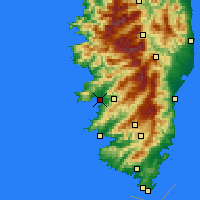 Nearby Forecast Locations - Ajaccio - Carte