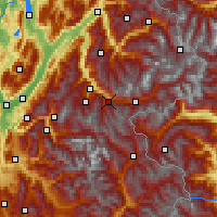 Nearby Forecast Locations - Valfréjus - Carte