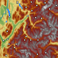 Nearby Forecast Locations - Valmorel - Carte