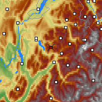 Nearby Forecast Locations - La Clusaz - Carte