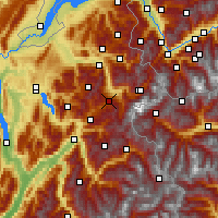 Nearby Forecast Locations - Megève - Carte