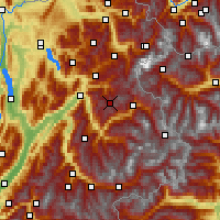 Nearby Forecast Locations - Beaufortain - Carte