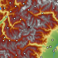Nearby Forecast Locations - Val-d'Isère - Carte