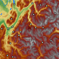 Nearby Forecast Locations - Les Trois Vallées - Carte