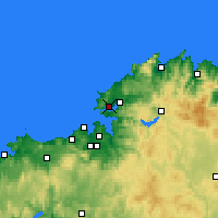 Nearby Forecast Locations - Ferrol - Carte