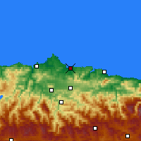 Nearby Forecast Locations - Gijón - Carte