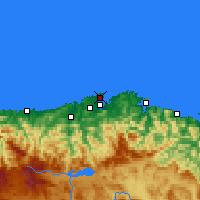 Nearby Forecast Locations - Santander - Carte