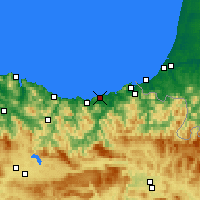 Nearby Forecast Locations - Saint-Sébastien - Carte