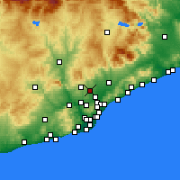 Nearby Forecast Locations - Sabadell - Carte