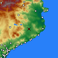 Nearby Forecast Locations - Gérone - Carte