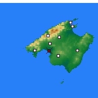 Nearby Forecast Locations - Majorque - Carte